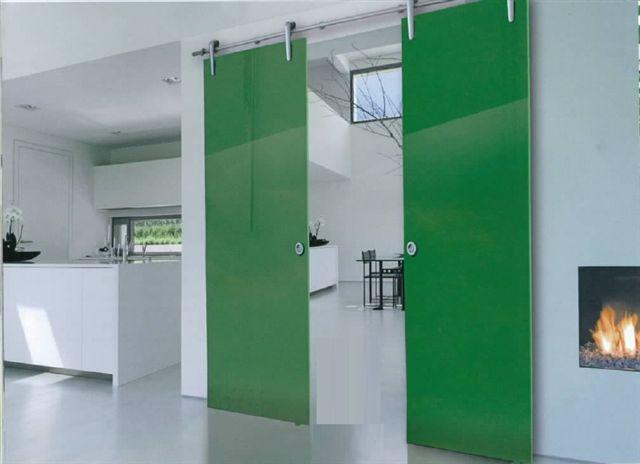 Porte a vetro 10 mm. scorrevole interno muro per controtelaio ...