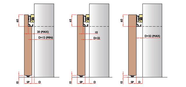 porte scorrevoli esterno muro -binario INVISIBILE BREVETTATO eBay