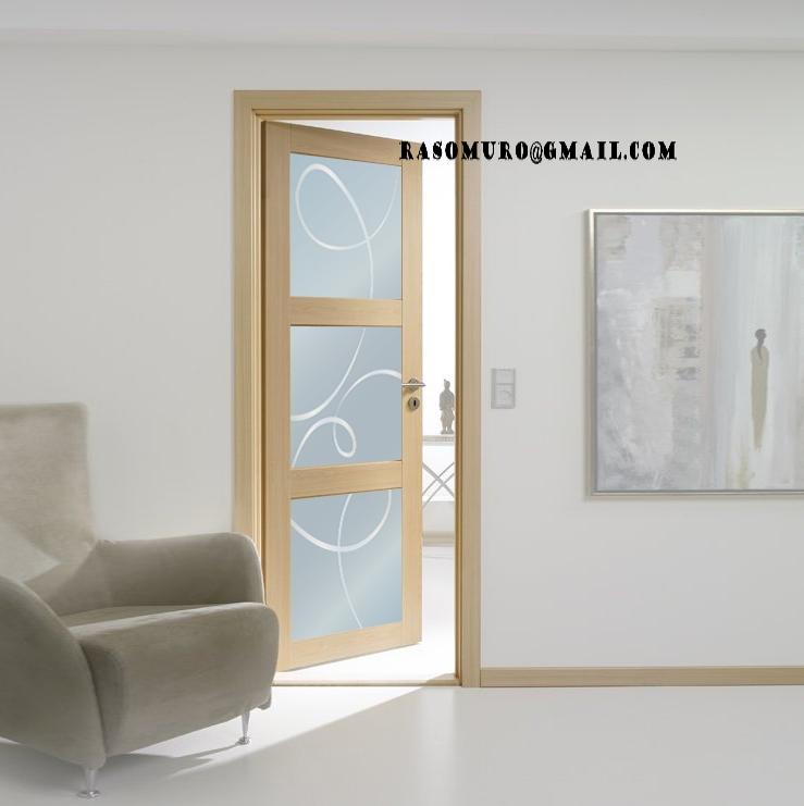 Porte interne rovere sbiancato finitura laminato for Porte interne vetro