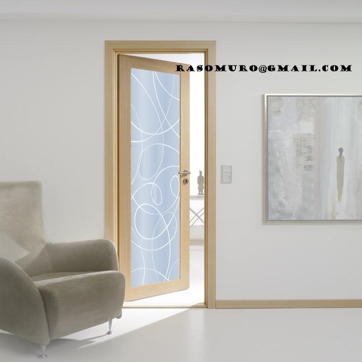 porte interne rovere sbiancato finitura laminato spazzolato ... - Disegni Moderni Per Porte In Vetro