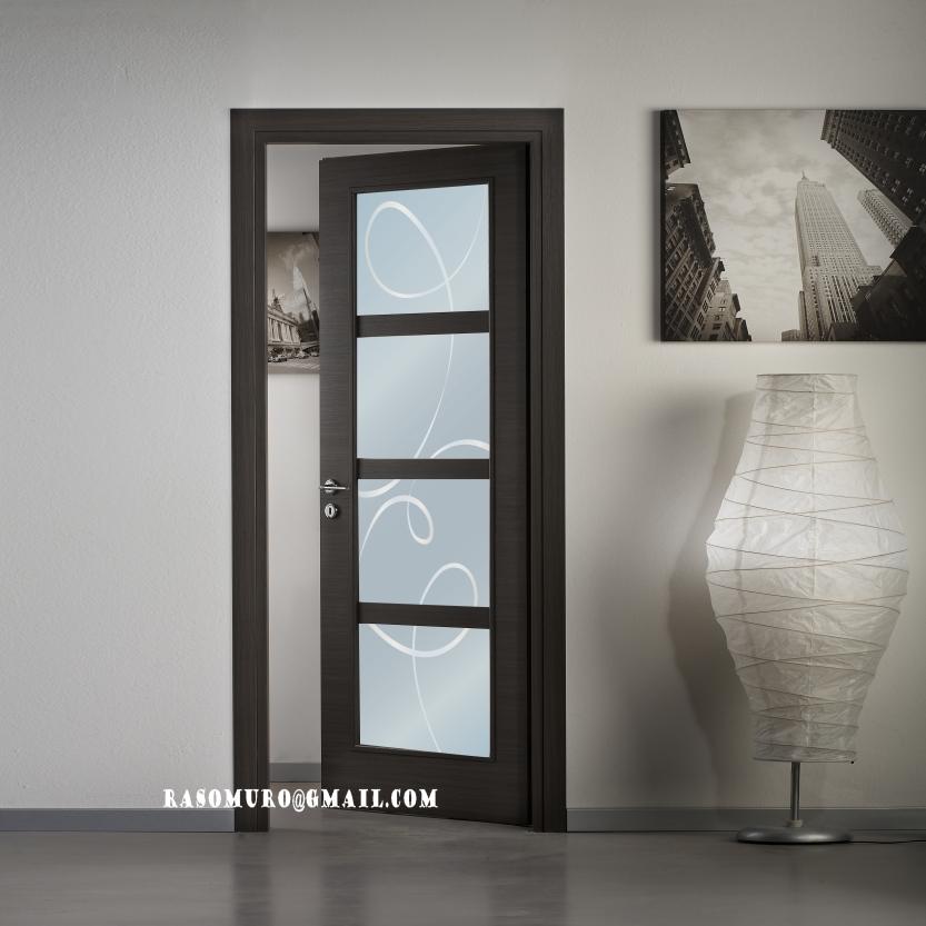 Porte interne rovere sbiancato finitura laminato - Porte da esterno con vetro ...