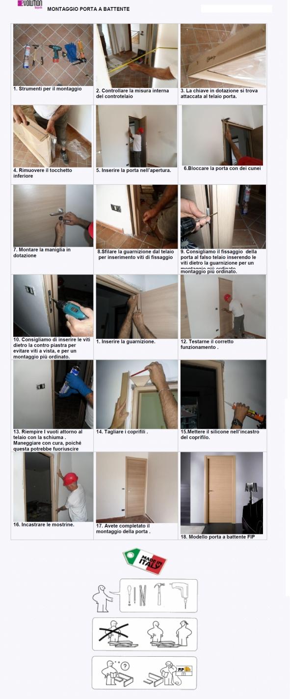 Porte interne rovere grigio finitura laminato graffiato - Montare telaio porta ...