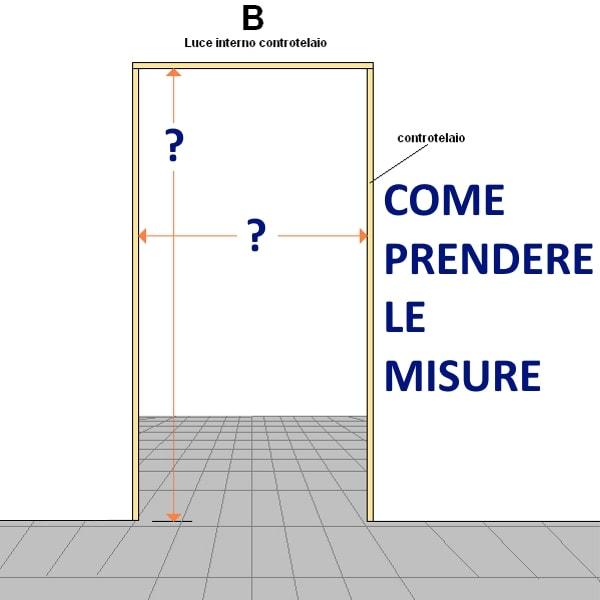 Porte interne rovere grigio finitura laminato graffiato - Spessore porta ...