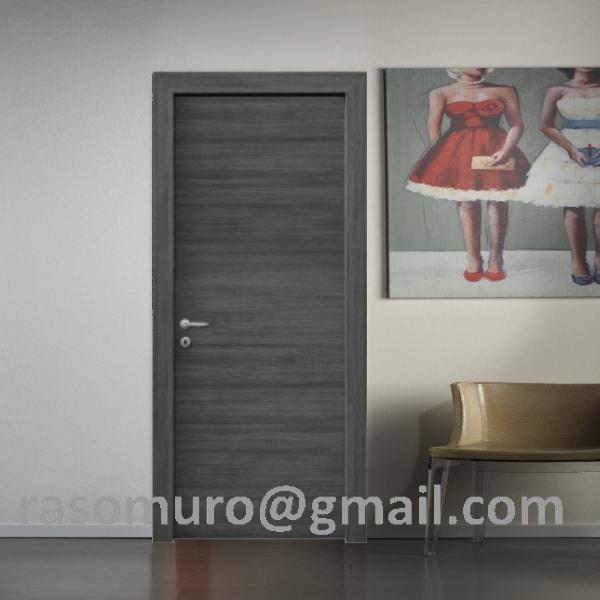 Great porta rovere grigio con telaio e coprifili idrofugo with porte grigie - Porte rovere grigio ...