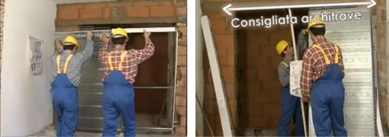 Controtelaio per porta a scomparsa interno muro no scrigno - Montare telaio porta ...