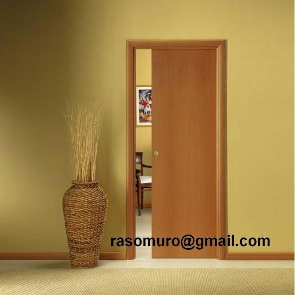 Porta porte scorrevole a scomparsa interno muro liscia - Prezzo porta a scrigno ...