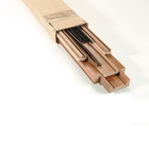 Kit stipite spazzolini guarnizioni per porte scorrevoli a for Porta 240 cm