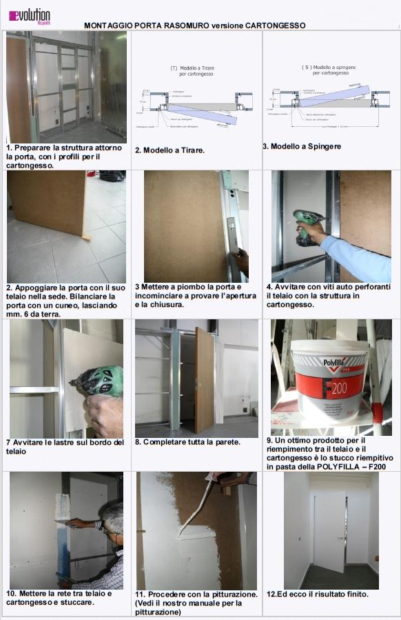 Porta raso muro con serratura invisibile filo muro sistemi - Montare telaio porta ...