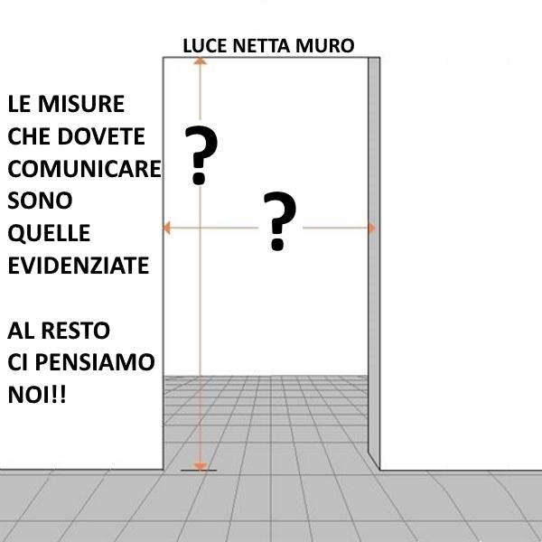 Porta scorrevole esterno muro in Noce/Wengè/ecc. completa di ...