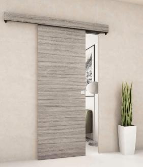 Porta scorrevole esterno muro in noce chiara completa di - Porta mantovana ...