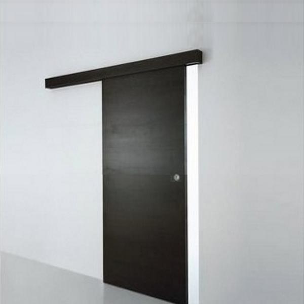 Porta scorrevole esterno muro in noce weng ecc completa - Porte scorrevoli esterne ...