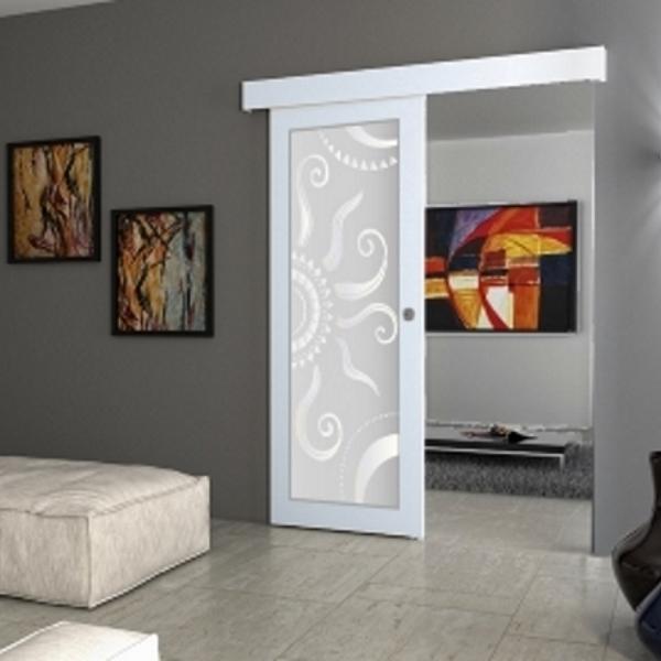 Porta scorrevole filomuro vetro a disegno for Le belle vetrate scorrevoli