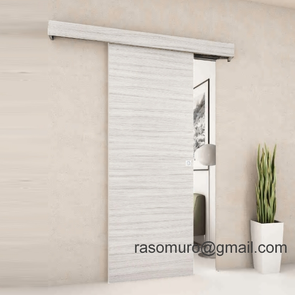 Porta scorrevole esterno muro in noce weng ecc completa - Porta scorrevole esterna muro ...