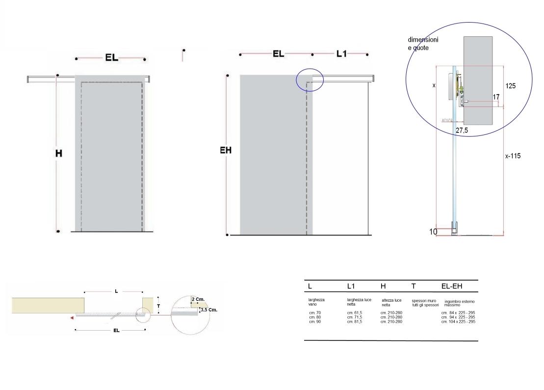 Porte Scorrevoli A Scomparsa Dimensioni.Dimensioni Porte Scorrevoli Esterne Oostwand
