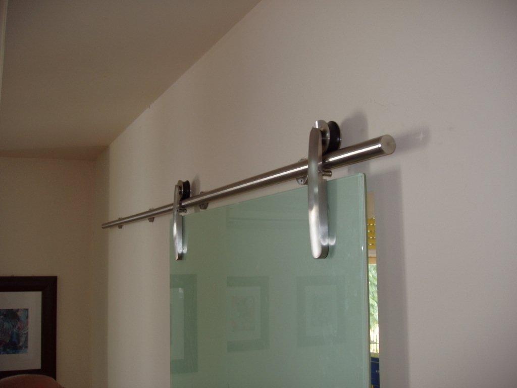 Details about Sliding track Minimal Stainless Steel for Glass Door up to  120 kg.- show original title