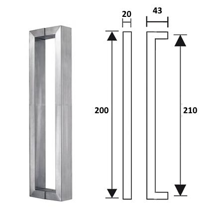 maniglie acciaio inox per porte a vetro ebay