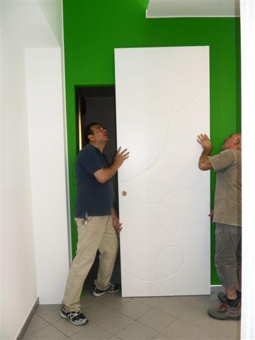 Porta interna scorrevole esterna MAGICAL filomuro con specchio ...