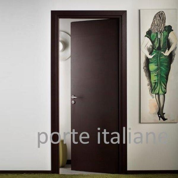 Dettagli su Porte interne Laminato Wenge compreso telaio mostrine ecc. e  compreso iva