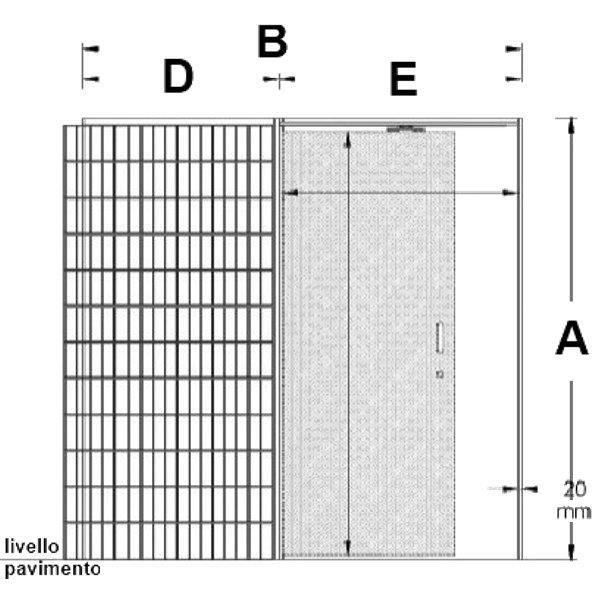 Dettagli su Controtelaio AMMORTIZZATO per porta a SCOMPARSA interno muro NO  SCRIGNO