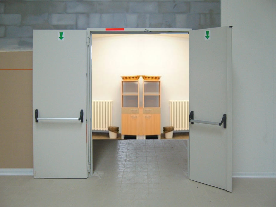 Double door fire doors