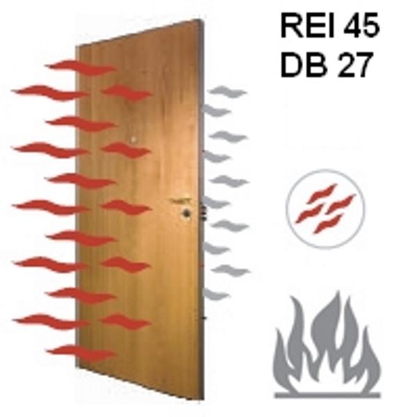 porta rei resistente al fuoco
