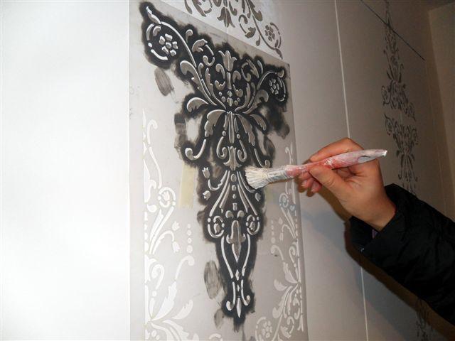 Libro cabina armadio raso muro porte filo muro ebay for Stencil per pareti