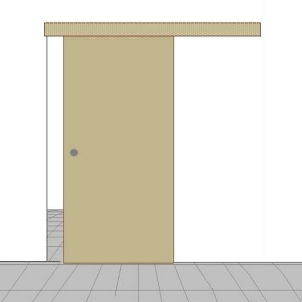 Porta scorrevole filomuro vetro a disegno ebay - Montare porta scorrevole ...