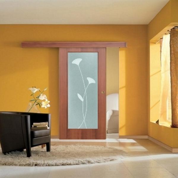 Porta scorrevole filomuro vetro a disegno ebay for Porte scorrevoli esterno muro prezzi
