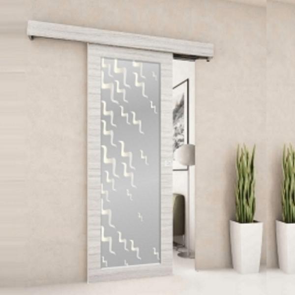 Porta scorrevole filomuro vetro a disegno ebay - Porte scorrevoli vetro esterno muro ...