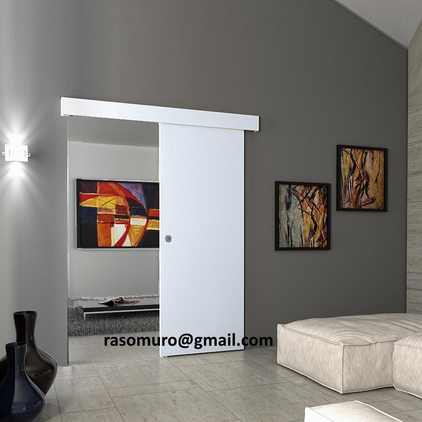 Porta scorrevole esterno muro in noce weng ecc completa - Porta scorrevole esterno muro prezzo ...