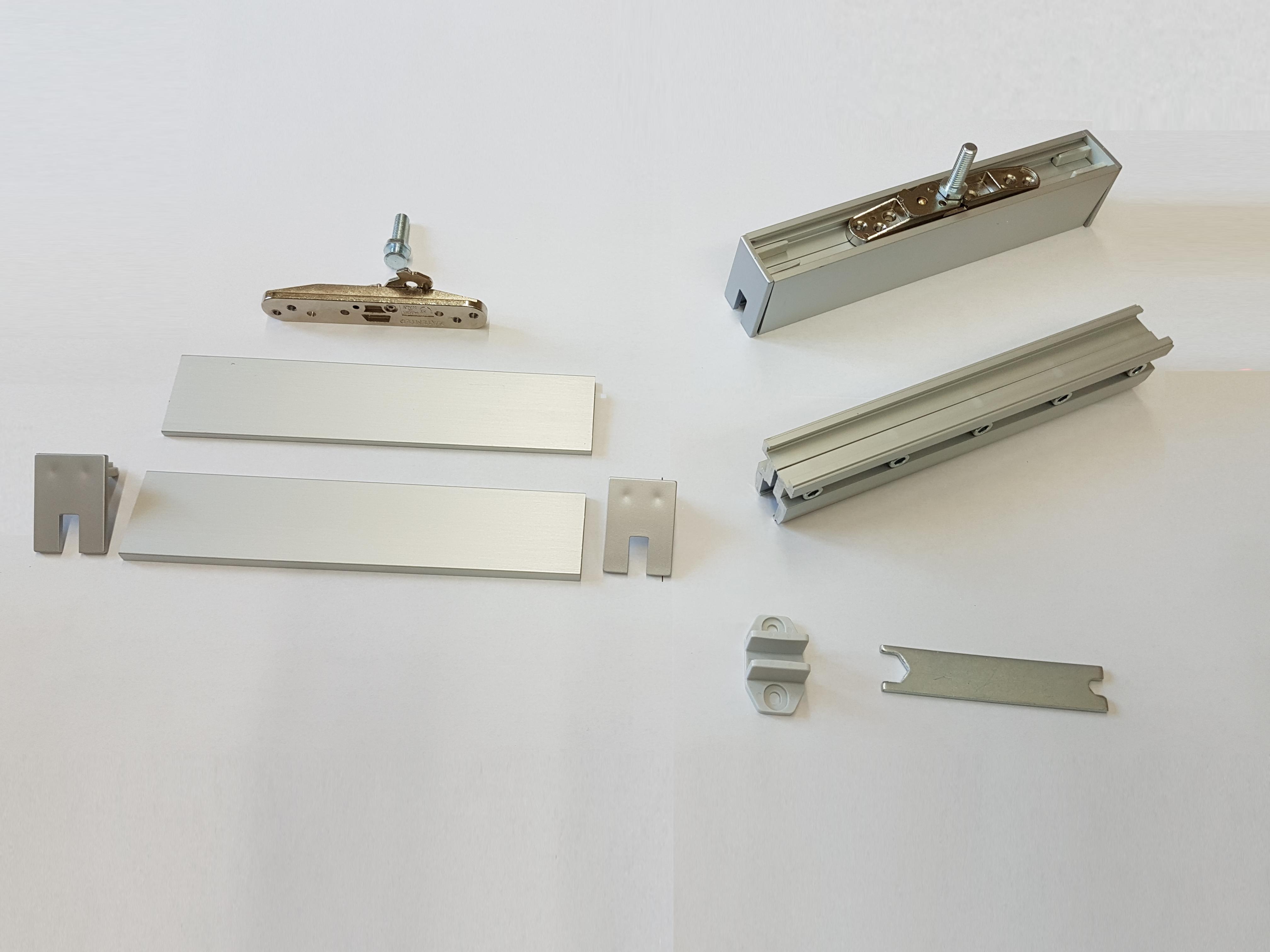 binario kit per porta scorrevole vetro cm 200 kg80 possibilita