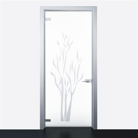 Porta interna alluminio vetro satinato non rimadesio quadra ebay - Prezzo porta interna ...