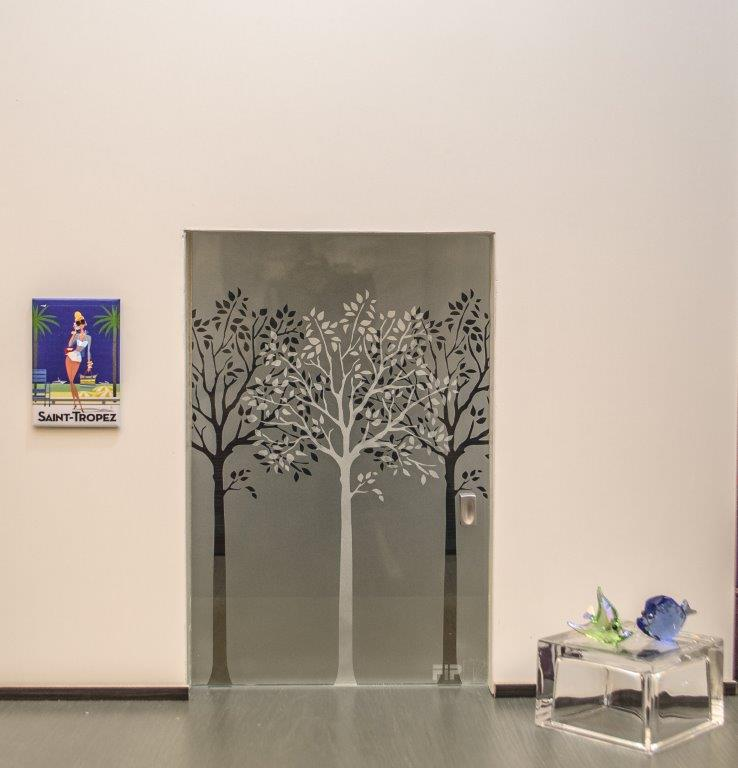 Details about External sliding door wall filomuro Mirrored Glass Bronze-  show original title